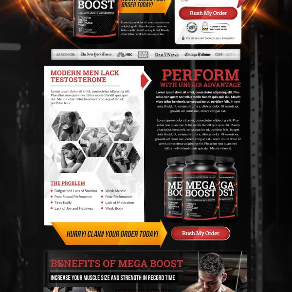 Muscle Landing Page
